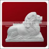 Chinese Traditional Hand Carved Marble Sitting Lion Statue