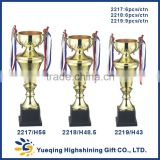 Hot sale plastic trophy base gold award trophy golden souvenir 2217 metal trophy cup China gifts corporate gift trophy memento