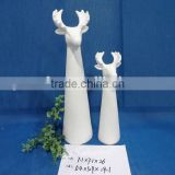 life size white deer head statues
