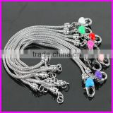 KJL-BD5126 Wholesale ! Fashion Heart Charms Snake Chain Alloy Beads Fit European Bracelet DIY