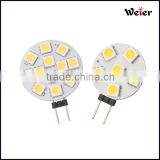 led tube light Vertical needle G4 LED Bulbs 12V 6 leds 5050 SMD White and Warm White spotlighting