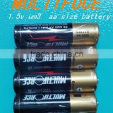 2016 factory supply new product 4 PACK multiforce Shrink Wrap 1.5v um3 battery aa size battery FOR torch light