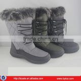 2016 Fashion warm Lady snow boots with fur lining