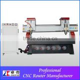 ZK-1325-2 Spindle Heads Wood Engraver Machine With Vacuum Bed