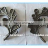2012 new BX ornamental wrought iron part/ decoration of gate and fence /cast steel flower