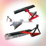 agricultrual machinery 3 point landscraper rake/ tractor 3 pt attachments & implements garden rake