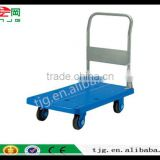 TJG Hot style CHINA Folded Trolley Car Pull Truck Trailer Truck Mute Flat Movable Trolley