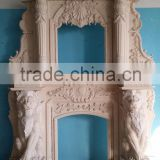 China supplier for nature stone electric fireplace stone fireplace mantel marble fire place frame