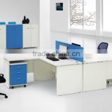 Small office room furniture design l-shaped table top low partition