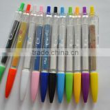 chinese factory's transparent click ballpoint banner pen