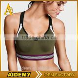 Wholesale Black Breathable Summer Women Padded Sport Bra
