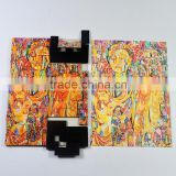 Custom made cardboard paper magnetic puzzle , full color printing magnetic jigsaw puzzle