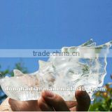 Exquisite Natural Rock Quartz Dragon Head Skull / Crystal Dragon Skull / Crystal Dragon Head