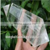 Natural clear quartz rock crystal points,clear crystal prism drop, healing clear quartz double points