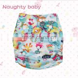 Naughty baby cute cartoon Baby pocket Cloth Diapers, one size baby diapers