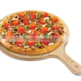 hot selling FSC&BSCI food grade bamboo wooden pizza plates peel serving board
