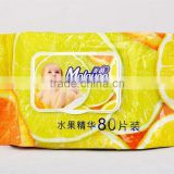 80pcs lemon cheap baby popular wet wipes