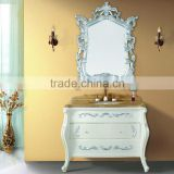 "WTS-1488 french style wood furniture 30"" (inch) Silver-white bathroom vanity combo units"