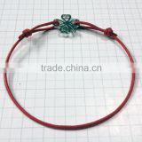 Among the most popular gifts cheap cotton wax rope bracelets from china