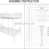 FOB 56$ China supplier CKD bunk bed metal/bunk bed/metal frame bunk beds/metal double bunk bed