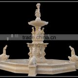 Large Egypt Beige Cream Nature Marble Fountain