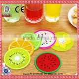 Cute Different Styles Fruit PVC Coaster Home Table Decor Lovely Tea Coffee Drink Placemat Cup Non-slip Heat Mat Pad