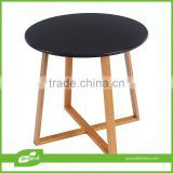 Round coffee side table bamboo furniture