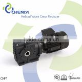 HELICAL WORM GEAR REDUCER GHM MODEL helical worm gear motor flange mounted gear boxfor ac motor