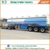 Hot selling 3 axles 45000 liters tanker truck trailer / water tank trailer / used fuel tanker trailers for sale