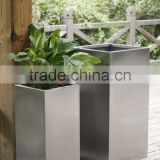 FO-9006 stainless steel rectangular flower pot, outdoor metal planter