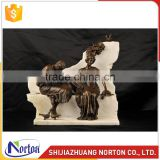 Italian roman lovers bronze statue for home decoration NTBH-011LI