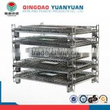 Metal cage industrial storage basket galvanized iron wire container warehouse rack