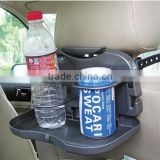 Car Back Seat Beverage Rack Drink Holder Bottle Stand Travel Dining Black car back seat tray