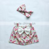 Newborn baby girl floral bows skirts wholesale cotton china alibaba mini skirts