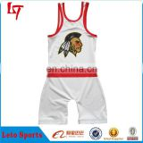 custom boy blank wrestling singlets outdoor sports plain wrestling uniform sublimated red white wrestling suit