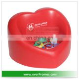 PU Foam Anti Stress Valentine Heart Desktop Bin For Promotion Ever Promos