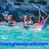Transparent kayak, clear kayak, crystal kayak, see thru kayak, ocean kayak, tour kayak, see bottom kayak, kayak paddling