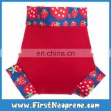 Lovely Strawberry In Red Neoprene Best Swimming Baby Nappy