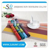 Hot sale colorful PVC stripe placemat in 2015