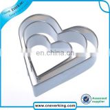 special gift stainless steel Heart shape cute cookie cutter set/cake cutter/special gift