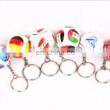 country flag print PU mini football Key Chains football team keychains football fan's gifts for 2018 world cup