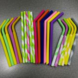 FDA Silicone Drinking Straws Silicone Rubber Straws Curved Silicone Straws Length:250mm