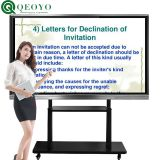 qeoyo 86inch i3 i5 i7 interactive whiteboard, interactive whiteboard with projector, interactive monitor for conference