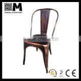 Industrial furniture vintage outdoor stacking metal chair