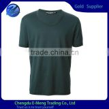 Factory cheap basic tshirt in deep green