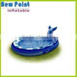 Inflatable swimming pool toys for fun,mini blue shark inflatable kids pool,pool waterfalls