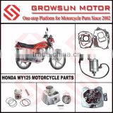 Hon. WY125 Motorcycle Spare Parts, gasket set, start motor, cylinder head