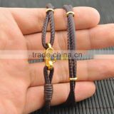 LFD-B0016 ~ New Design Brown Sheepskin High Quality Braided Multilayer Leather Cords Bracelets Jewelry Gift