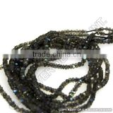 AAA quality labradorite faceted gemstone rondelle beads strands handmade jewelry supplies