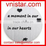Vnistar a moment in our arms, a lifetime in our hearts 22mm stainless floating locket plate charm AC506